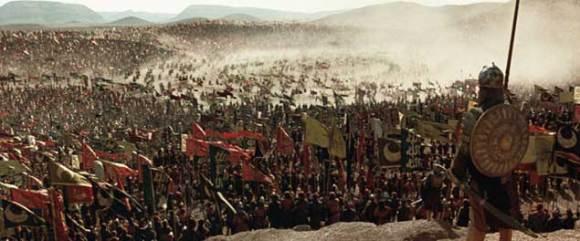 Gambaran pasukan Muslim dalam Perang Hittin (dalam film Kingdom of Heaven)